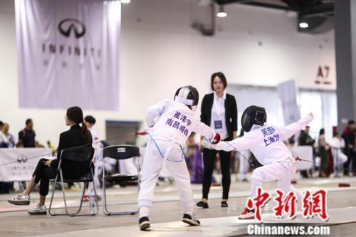 中国击剑俱乐部联赛南昌站开幕 3000剑客参与角逐