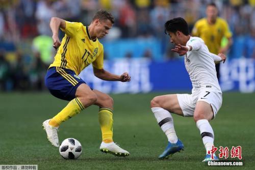VAR技术再抢镜 世界杯F组瑞典队1