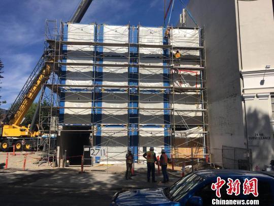 中国企业在美建造的首个钢结构模块化房屋项目投用