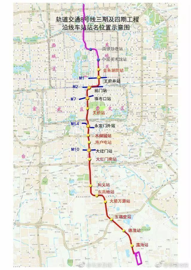 一起关注北京地铁新线!6号线西延与8号线三期、四期