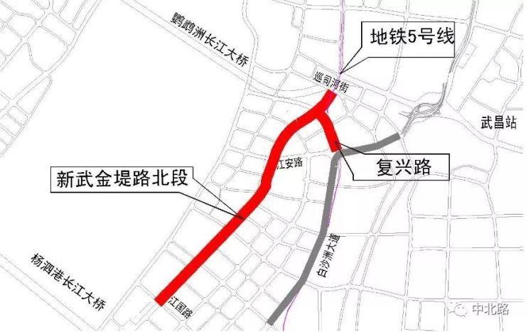 白沙洲好消息!武汉城建委、武汉城投:新武金堤路南段准备开工