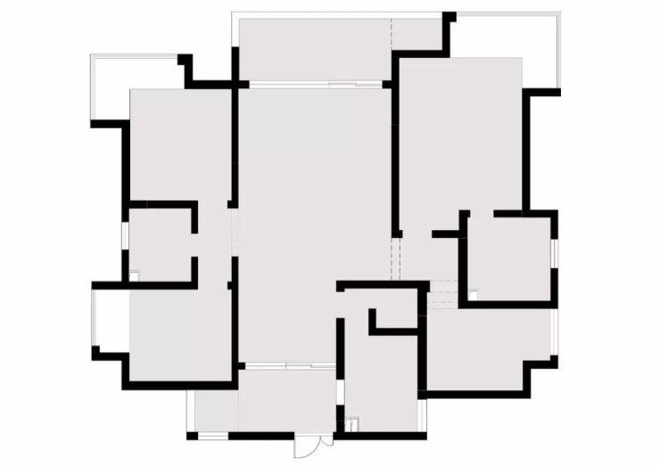 芜湖东方红郡153㎡大户型装修效果图