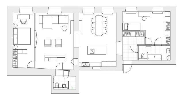 黄铜色调,让19世纪的老公寓无比时髦|装修小常识-辽宁林凤装饰装修工程有限公司抚顺分公司
